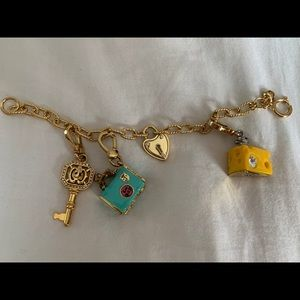 Juicy Couture Charm Bracelet Gold 4 charms
